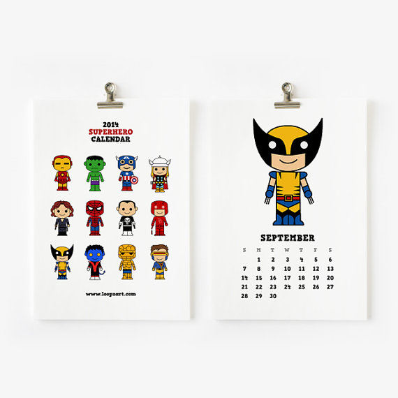 X-Men Calendar Giveaway