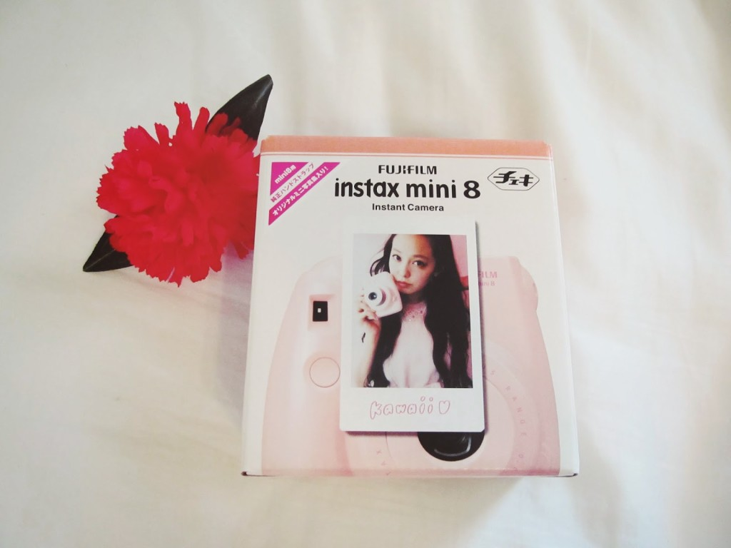 Pink fujifilm instax mini 8