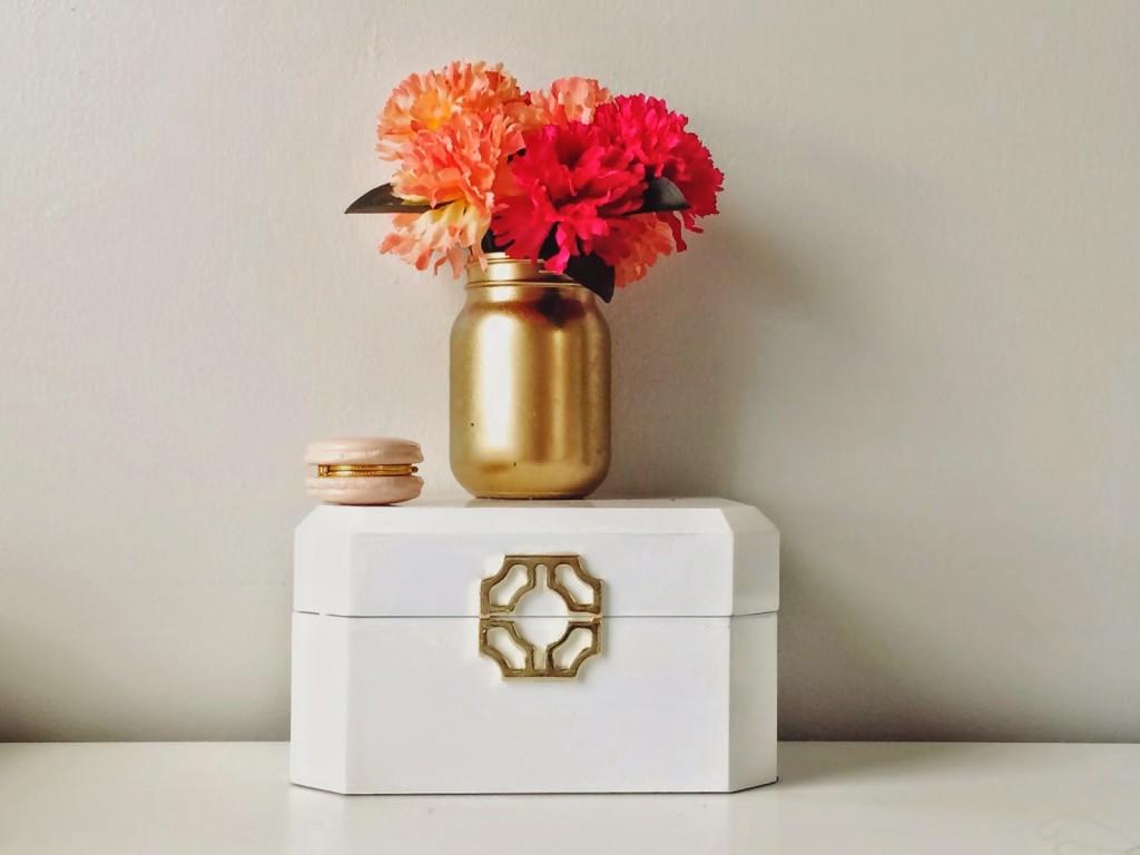 Gold Mason Jar Etsy