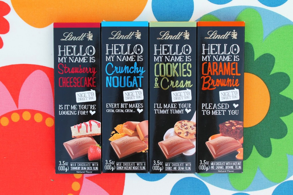 Lindt HELLO chocolate, HELLO chocolate bars, Lindt It Started with HELLO, New Chocolate from Lindt