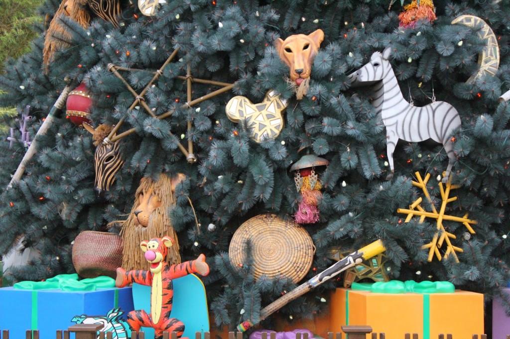 Disney World Animal Kingdom Christmas tree