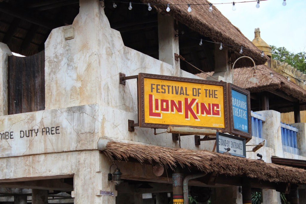 Disney World Animal Kingdom festival of the lion king