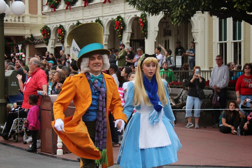 Disney World Magic Kingdom Christmas Alice in Wonderland