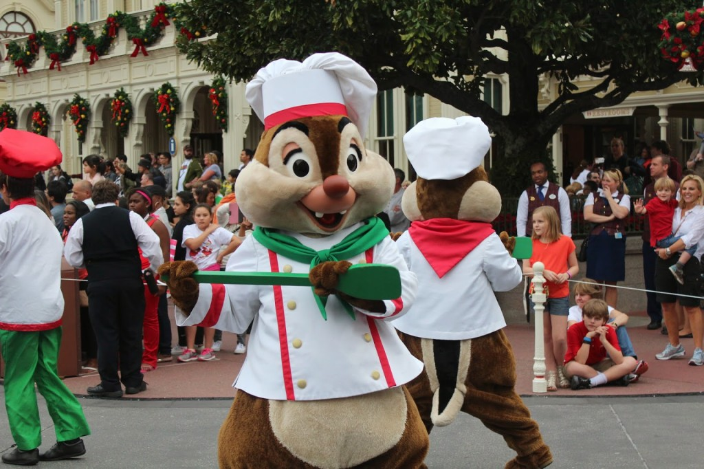 Disney World Magic Kingdom Christmas Chip and Dale