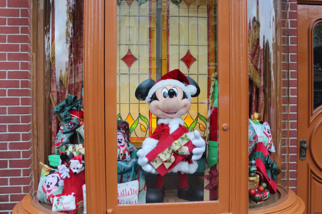 Disney World Magic Kingdom Christmas Window Display