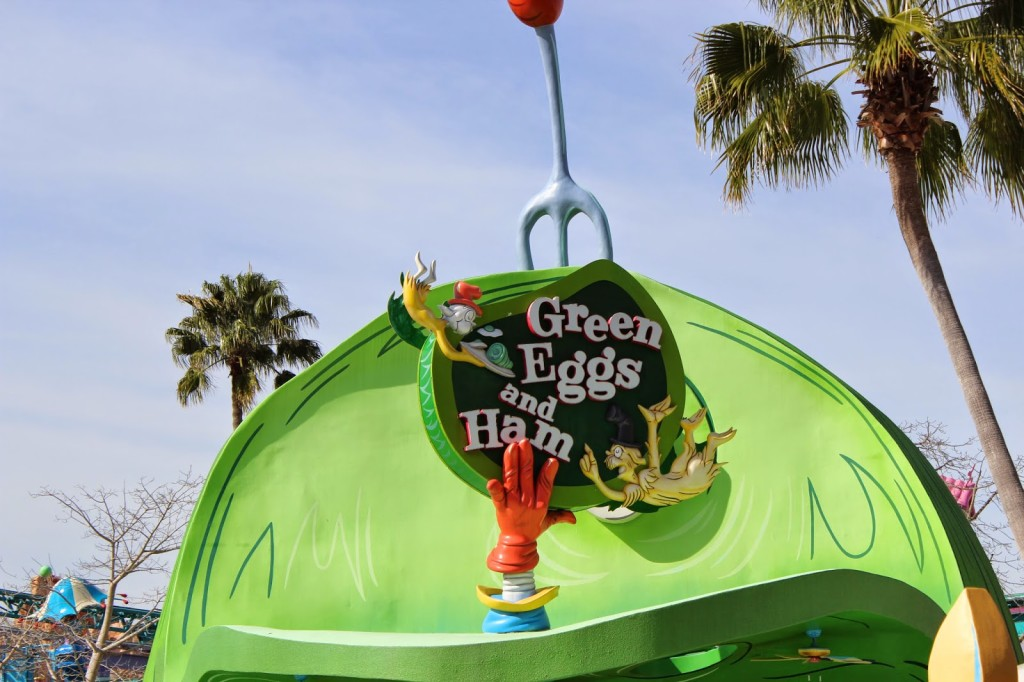Seuss Landing Islands of Adventure Green Eggs and Ham