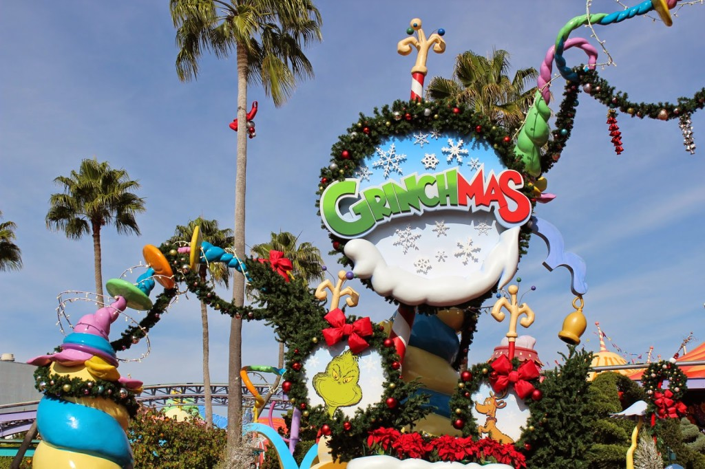 Seuss Landing Islands of Adventure during Christmas