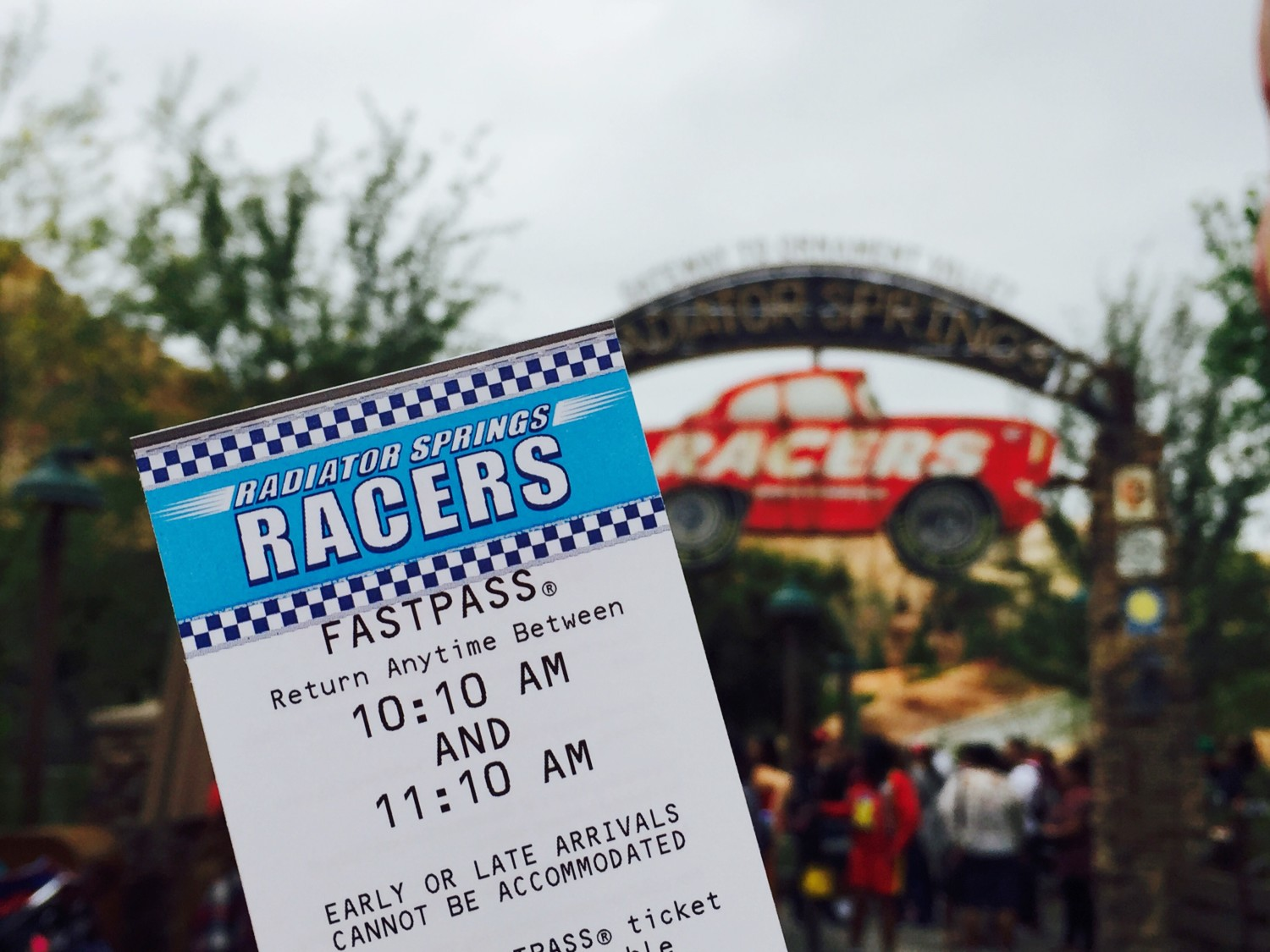 Disney California Adventure Radiator Springs Racers FastPass