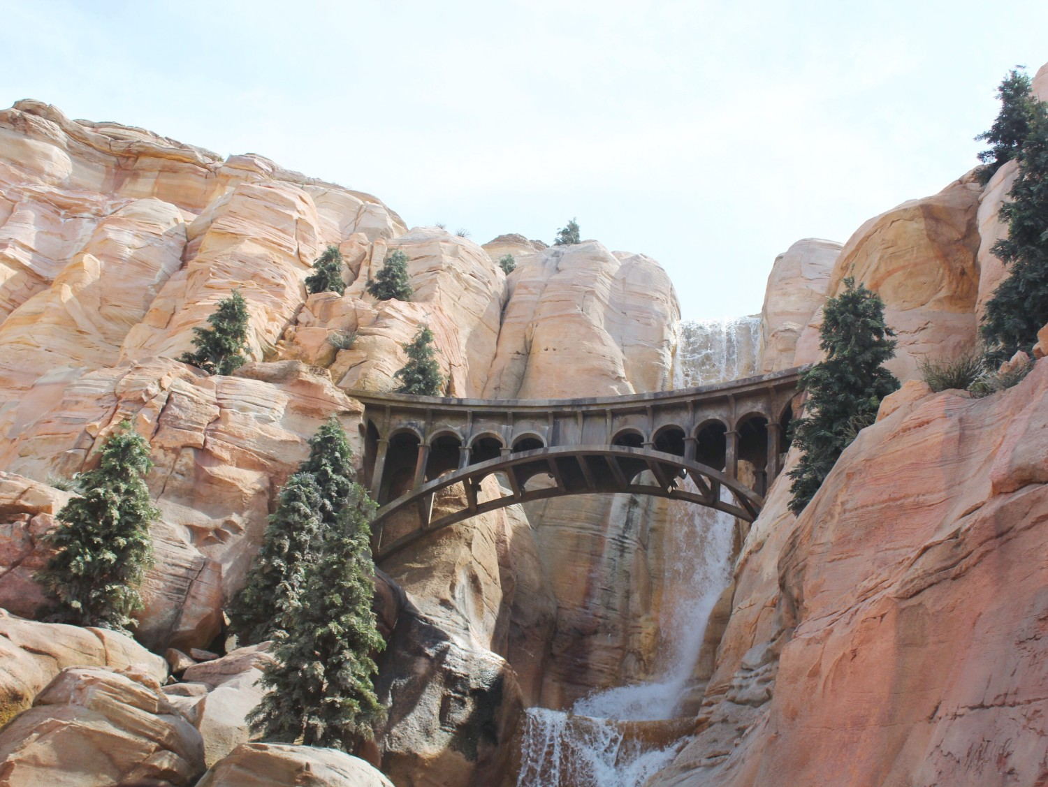 Disney California Adventure Radiator Springs Racers Waterfall