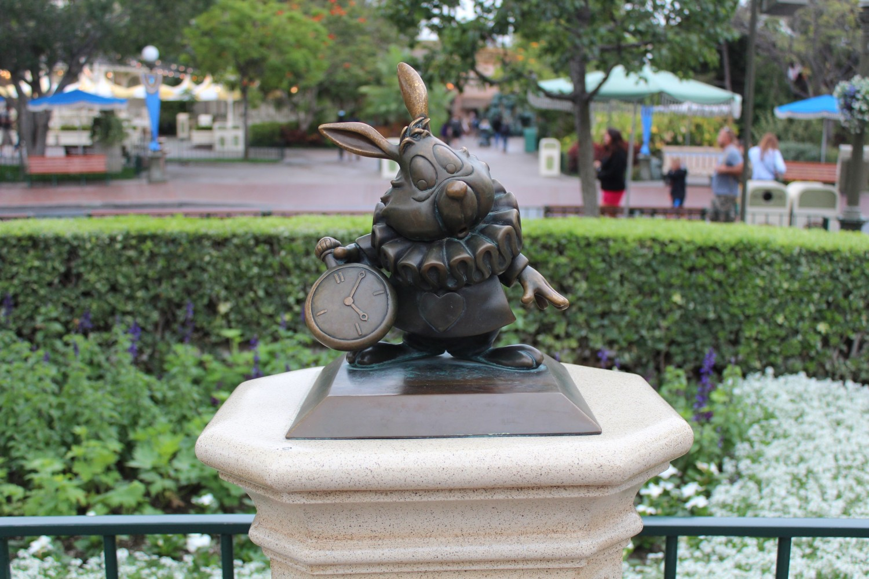 Disneyland White Rabbit Statue