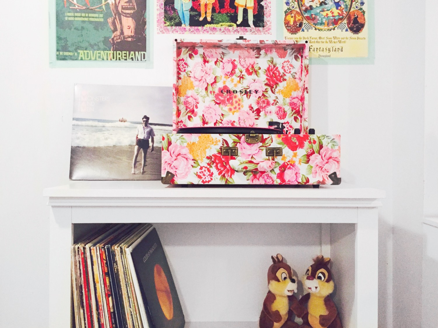 Floral Crosley Record Player
