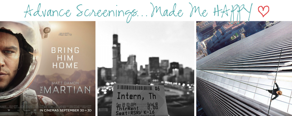 12 Months of Happiness September 2015 Screenings