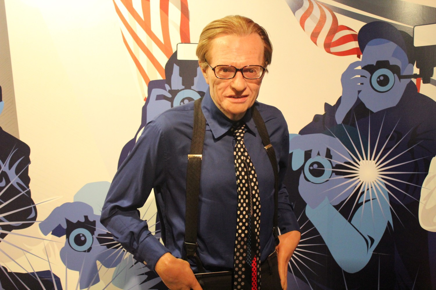 Larry King Wax Figure Madame Tussauds Washington D.C.