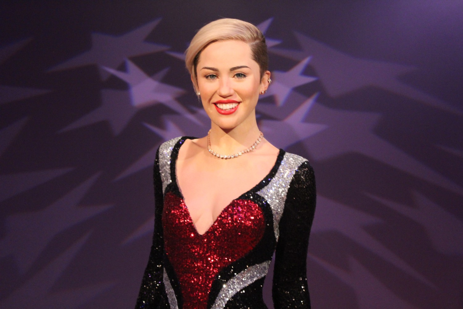 Miley Cyrus Wax Figure Madame Tussauds Washington D.C.