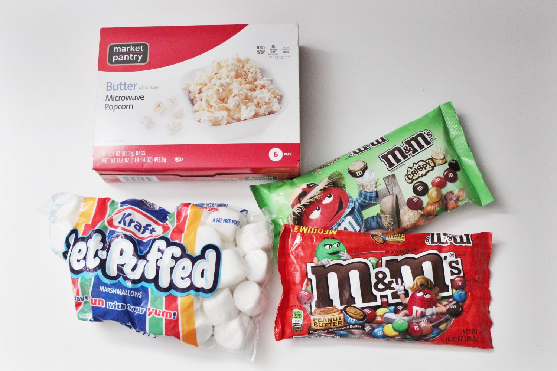 Popcorn M&M marshmallow recipe