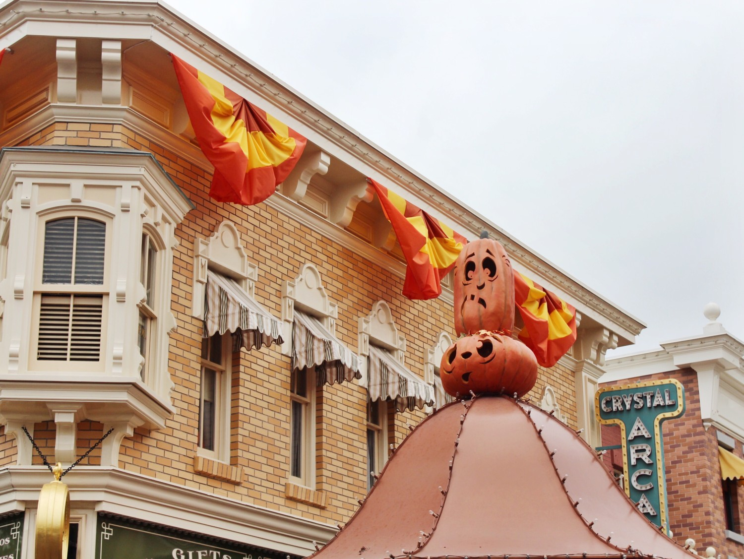 Disneyland Main Street USA Halloween Decorations