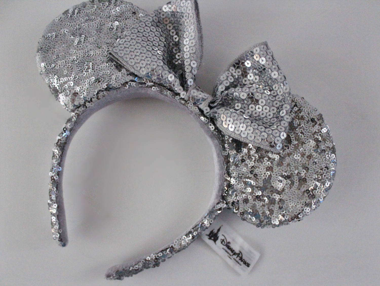 Disney Silver Sequin Mickey Ears