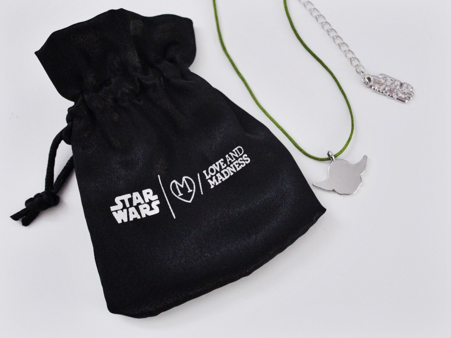 Love And Madness Star Wars Silver Yoda Necklace