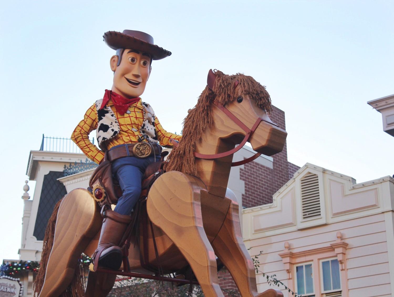 Disneyland A Christmas Fantasy Parade Woody