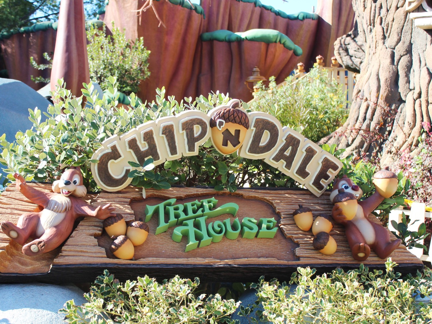 Disneyland Chip 'n Dale Treehouse