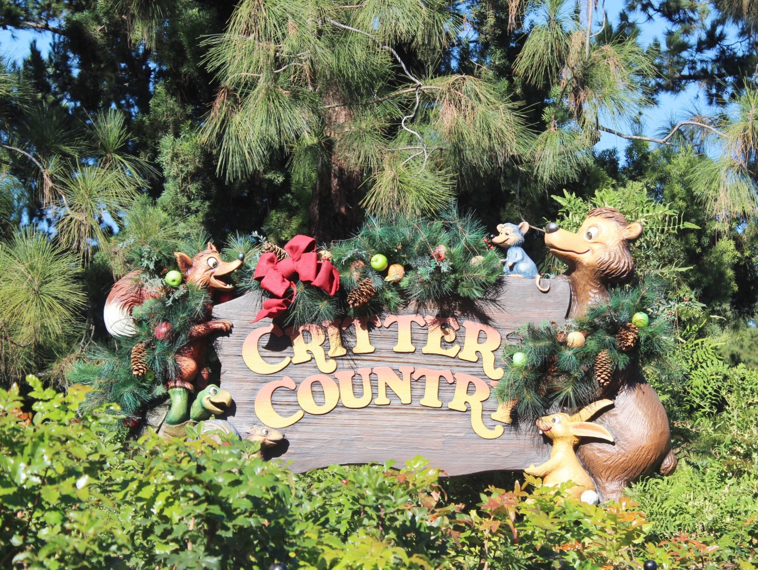 Disneyland Critter Country During Christmas