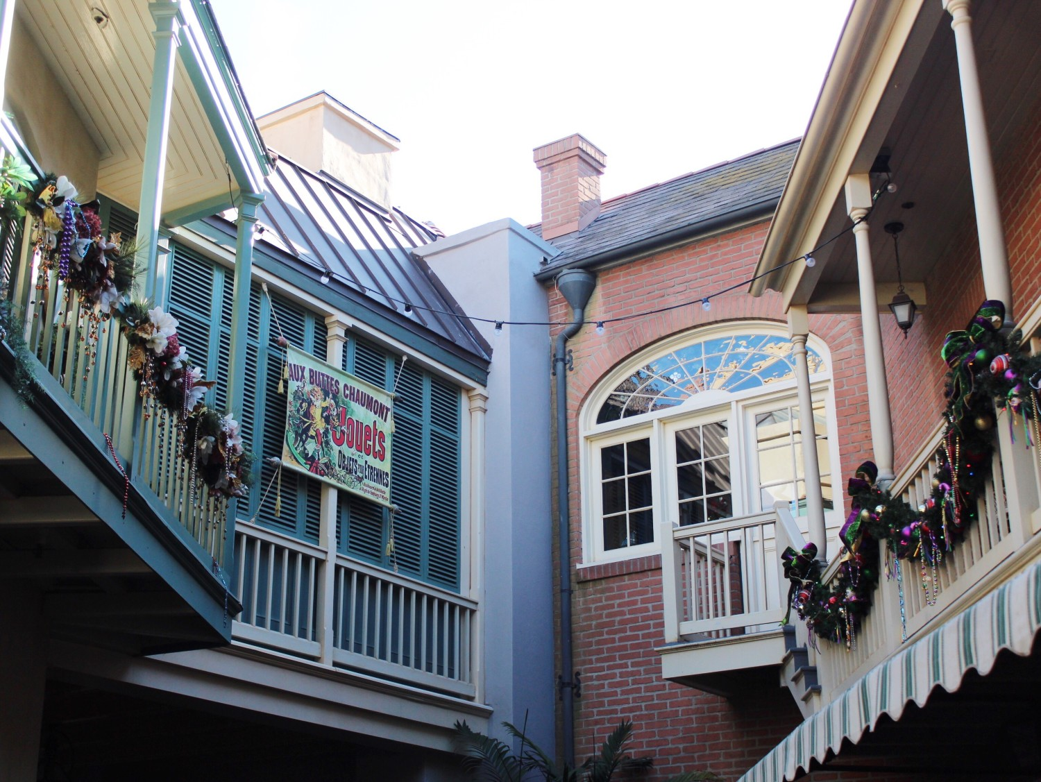 Disneyland During the holidays New Orleans Square