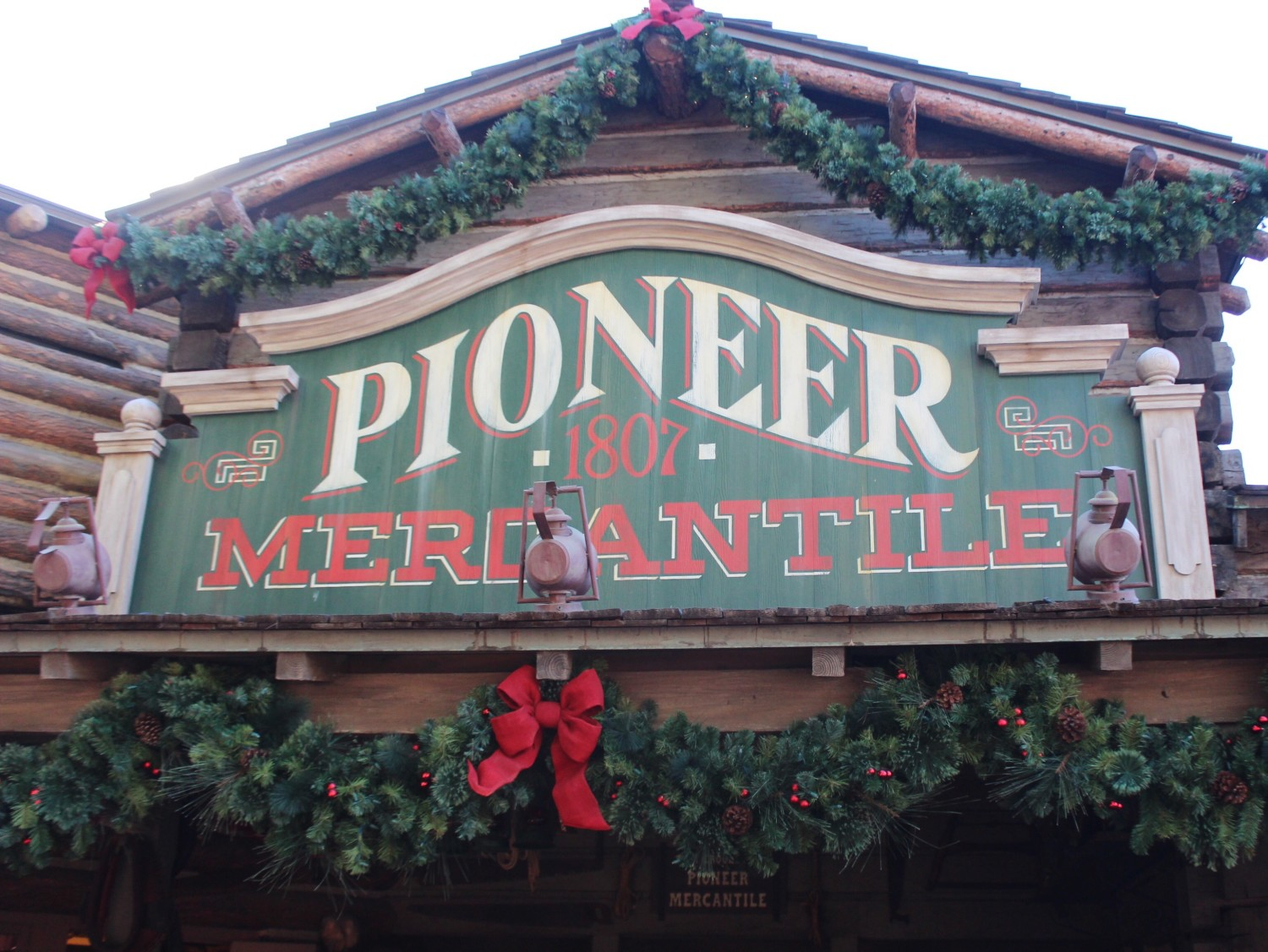 Disneyland Frontierland During Christmas