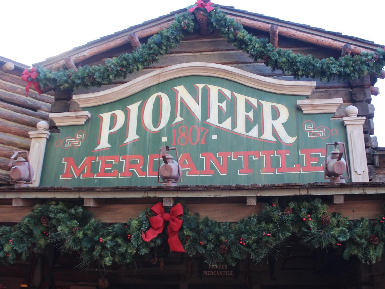 Disneyland Frontierland During Christmas