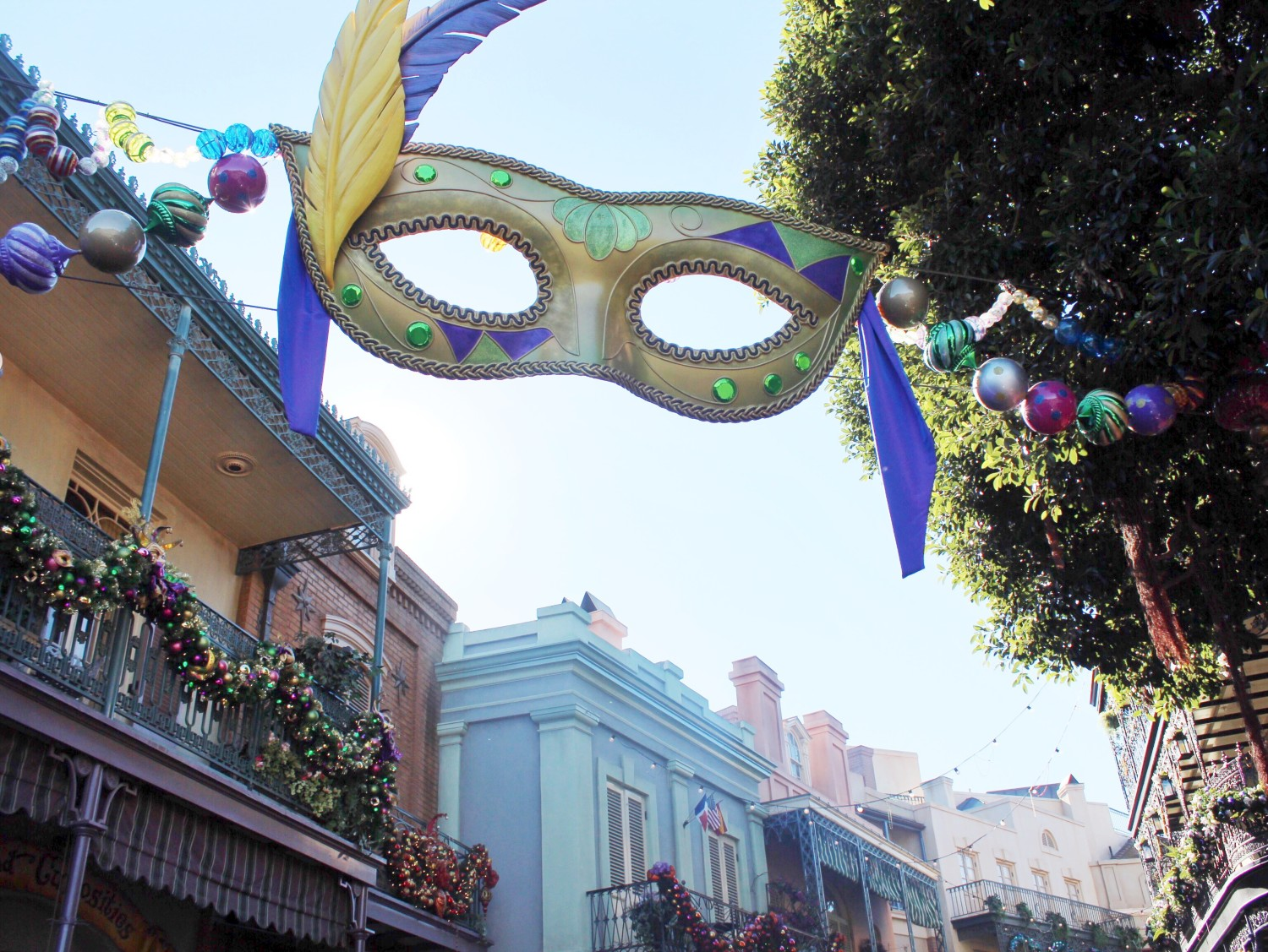 Disneyland New Orleans Square During the Holidays