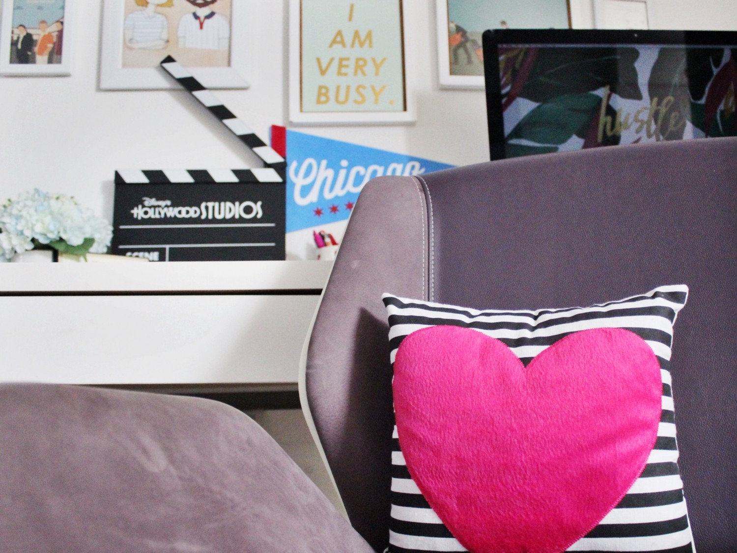 Cute Black and White Striped Pillows