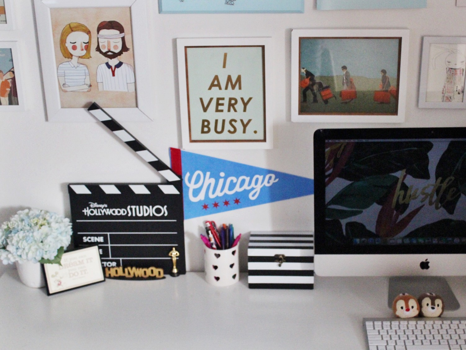 Cute Home Office Gallery Wall