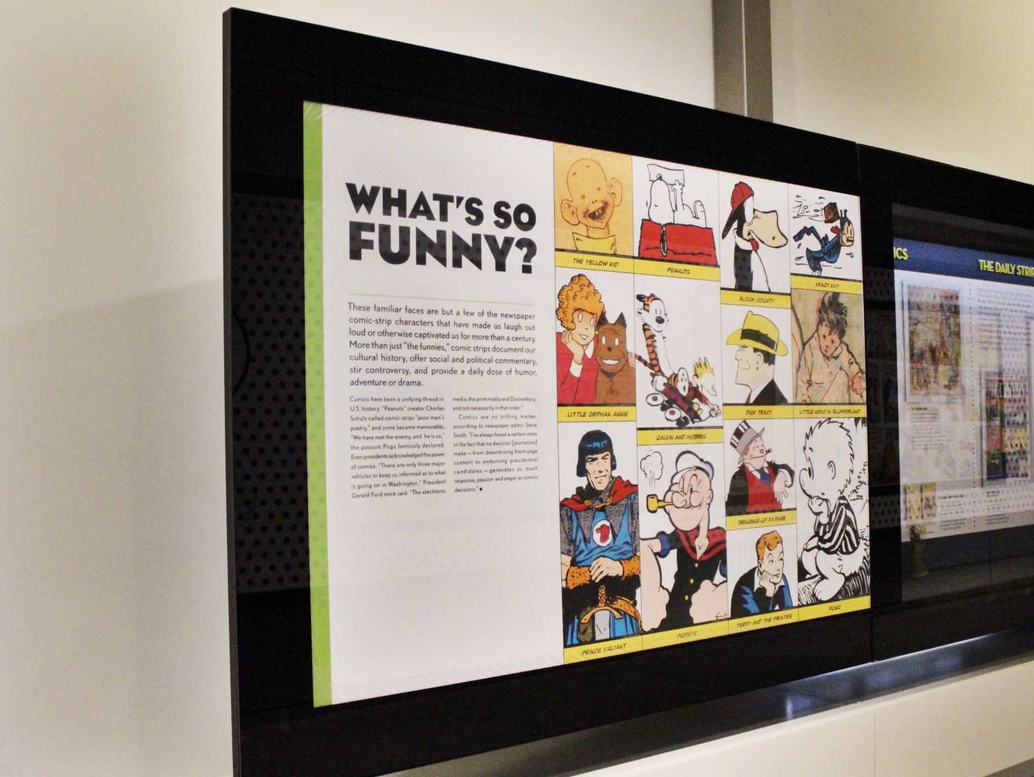 Newseum Comic Book Strips