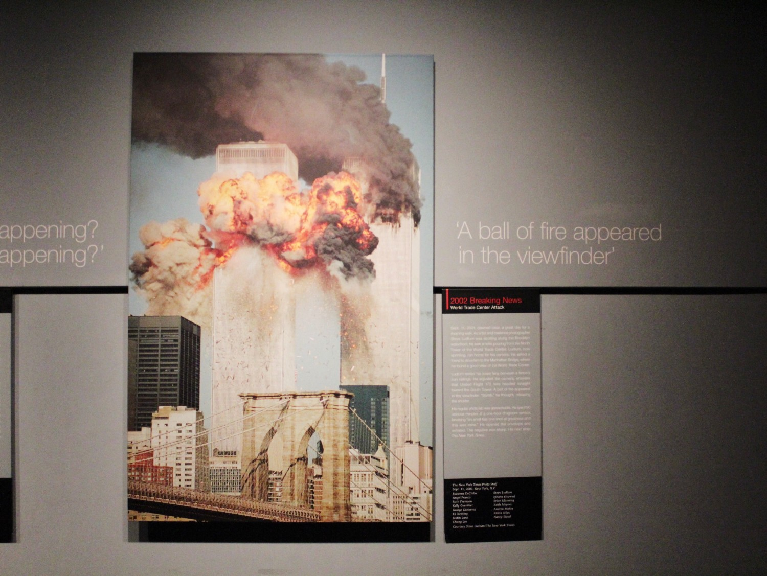 World Trade Center Attack Pulitzer Prize Photo Newseum