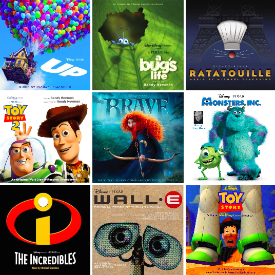 Pixar Playlist: Top songs from Pixar films