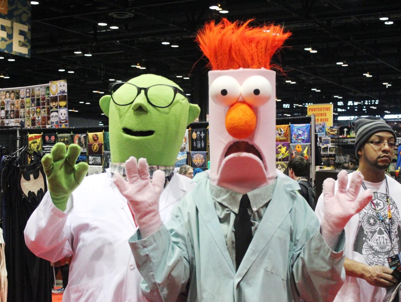 Dr. Bunsen Honeydew and Beaker Cosplay