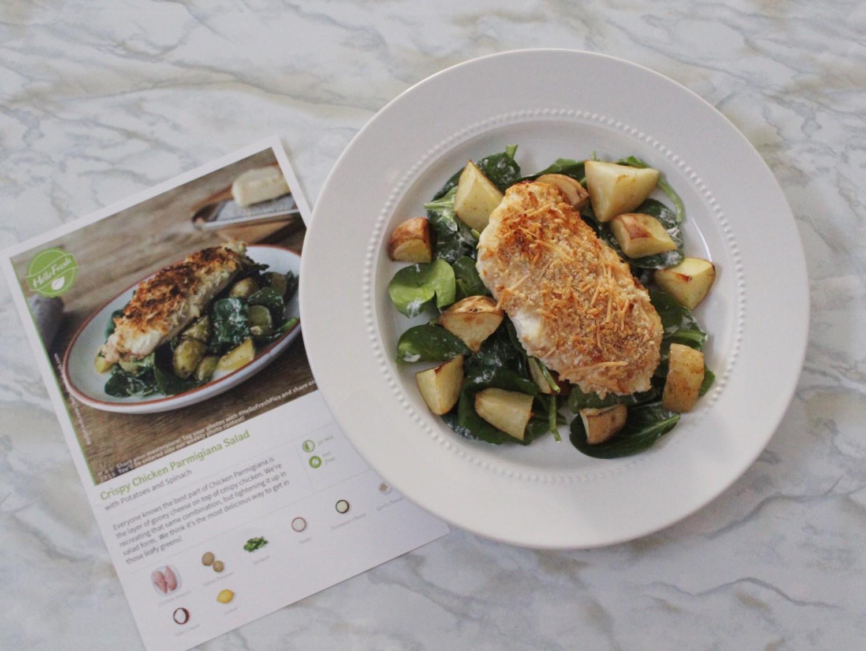 HelloFresh Crispy Chicken Parmigiana Salad