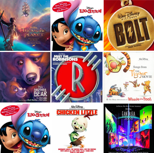 Disney Post-Renaissance Playlist