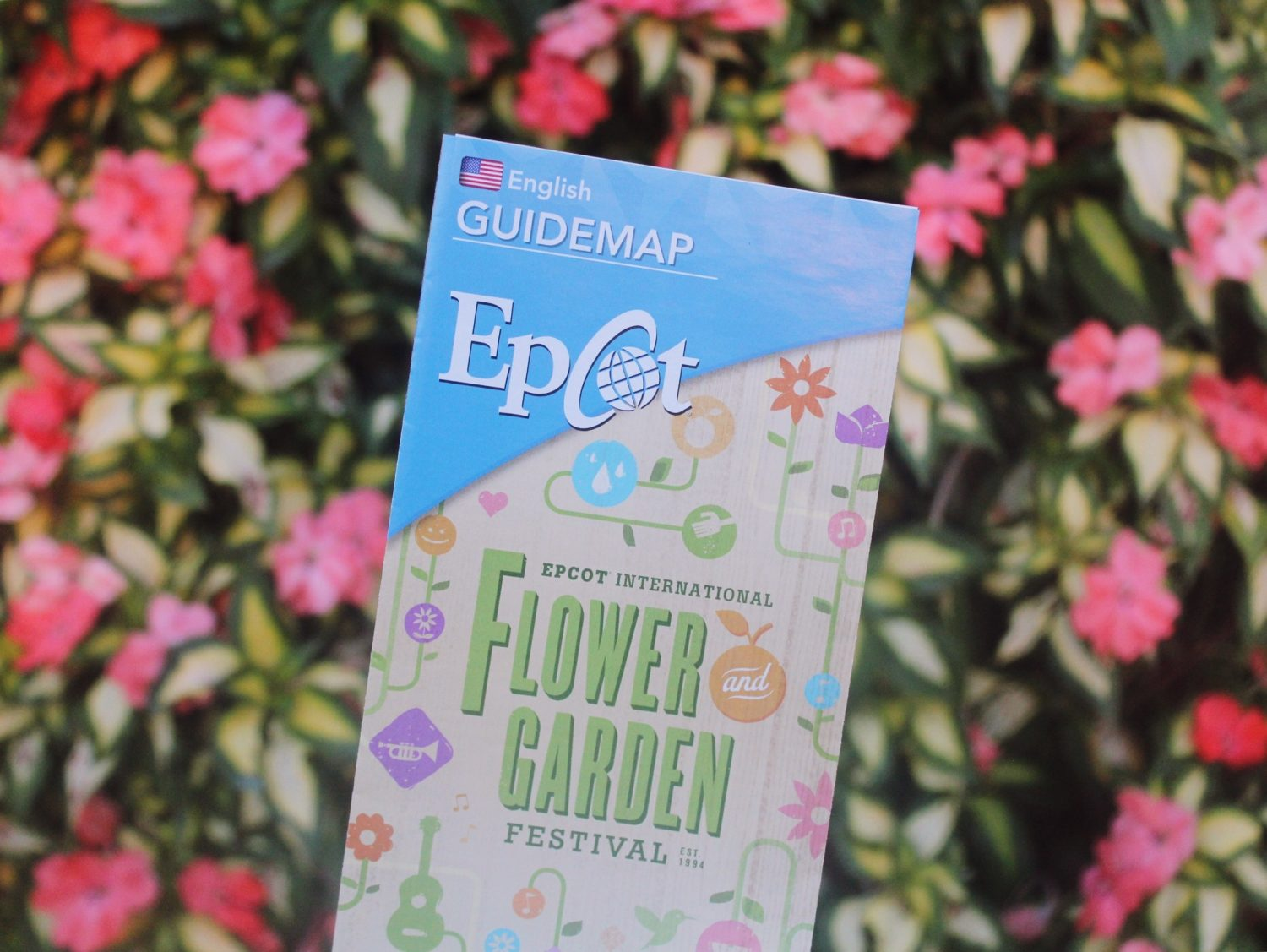 Epcot International Flower and Garden Festival Guide map