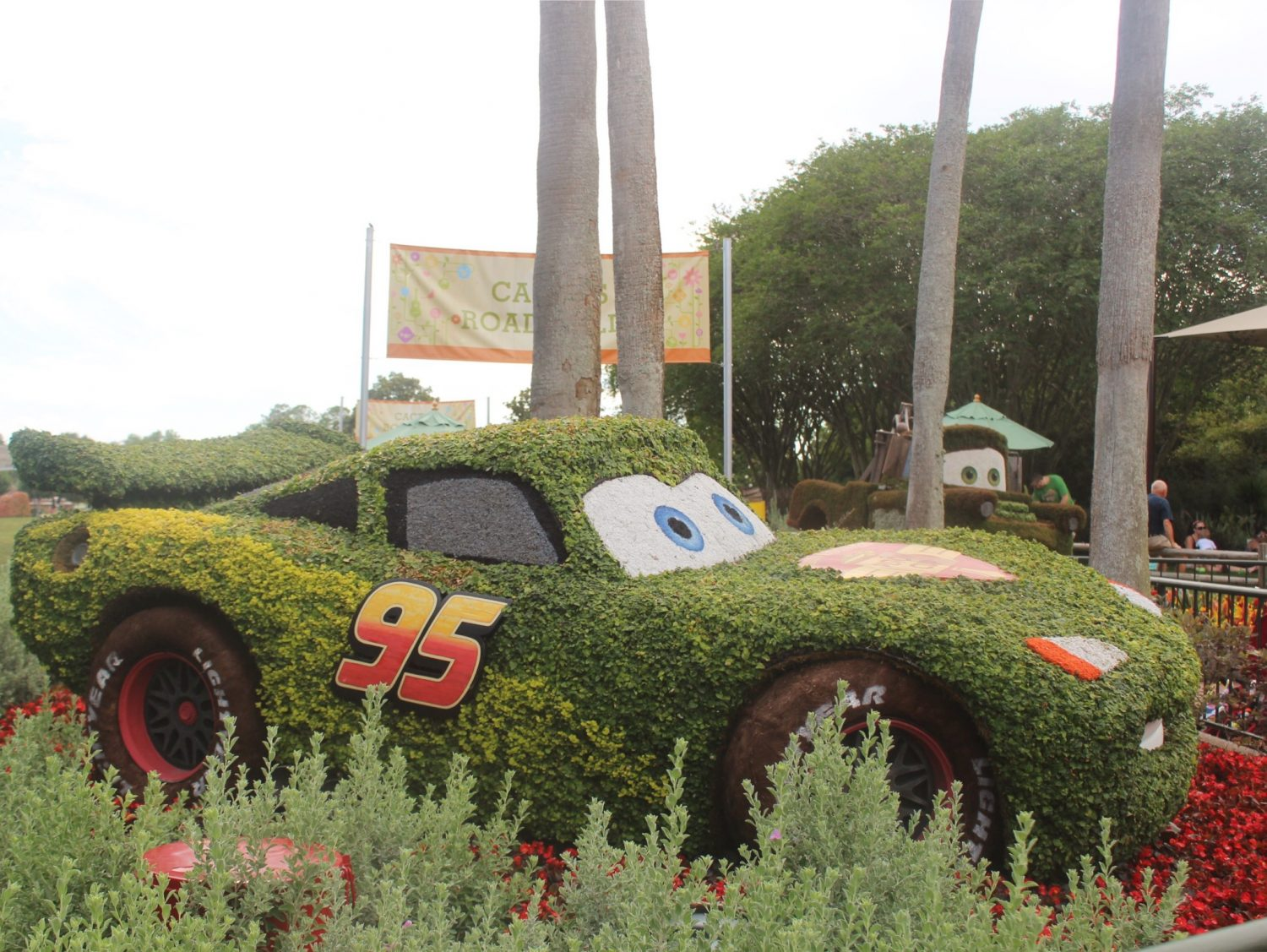 Epcot International Flower and Garden Festival Lightning McQueen