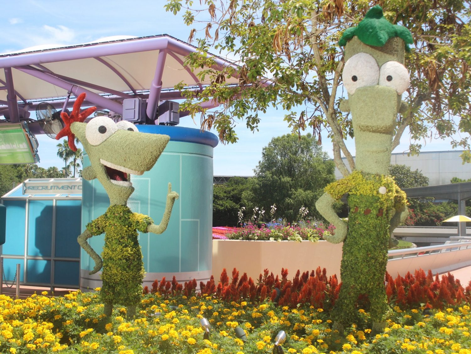 Epcot International Flower and Garden Festival Phineas and Ferb