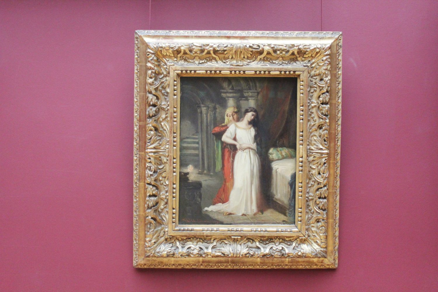 Famous paintings at The Louvre