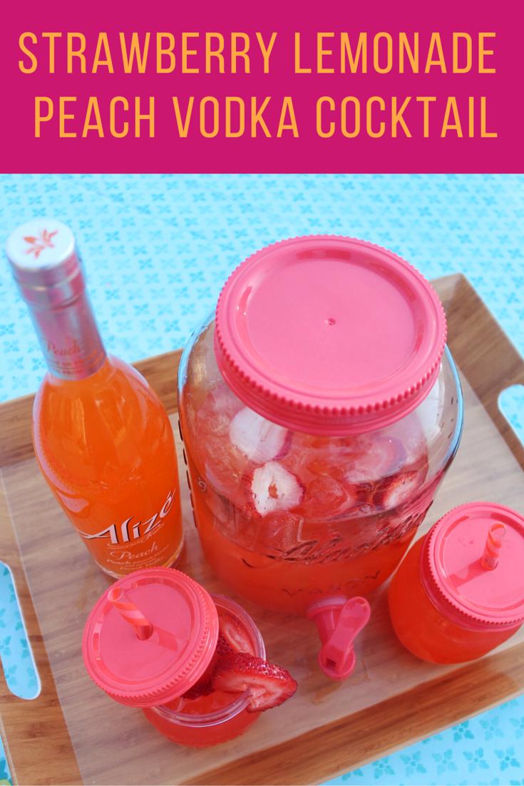 Peach Strawberry Lemonade Cocktail Recipe - Simply Sinova