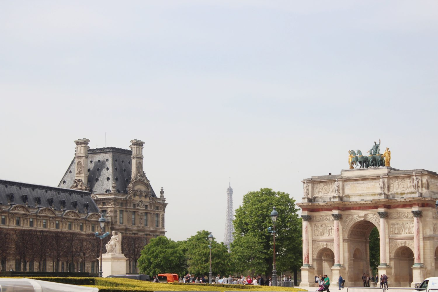 The Eiffel Tower from The Louvre