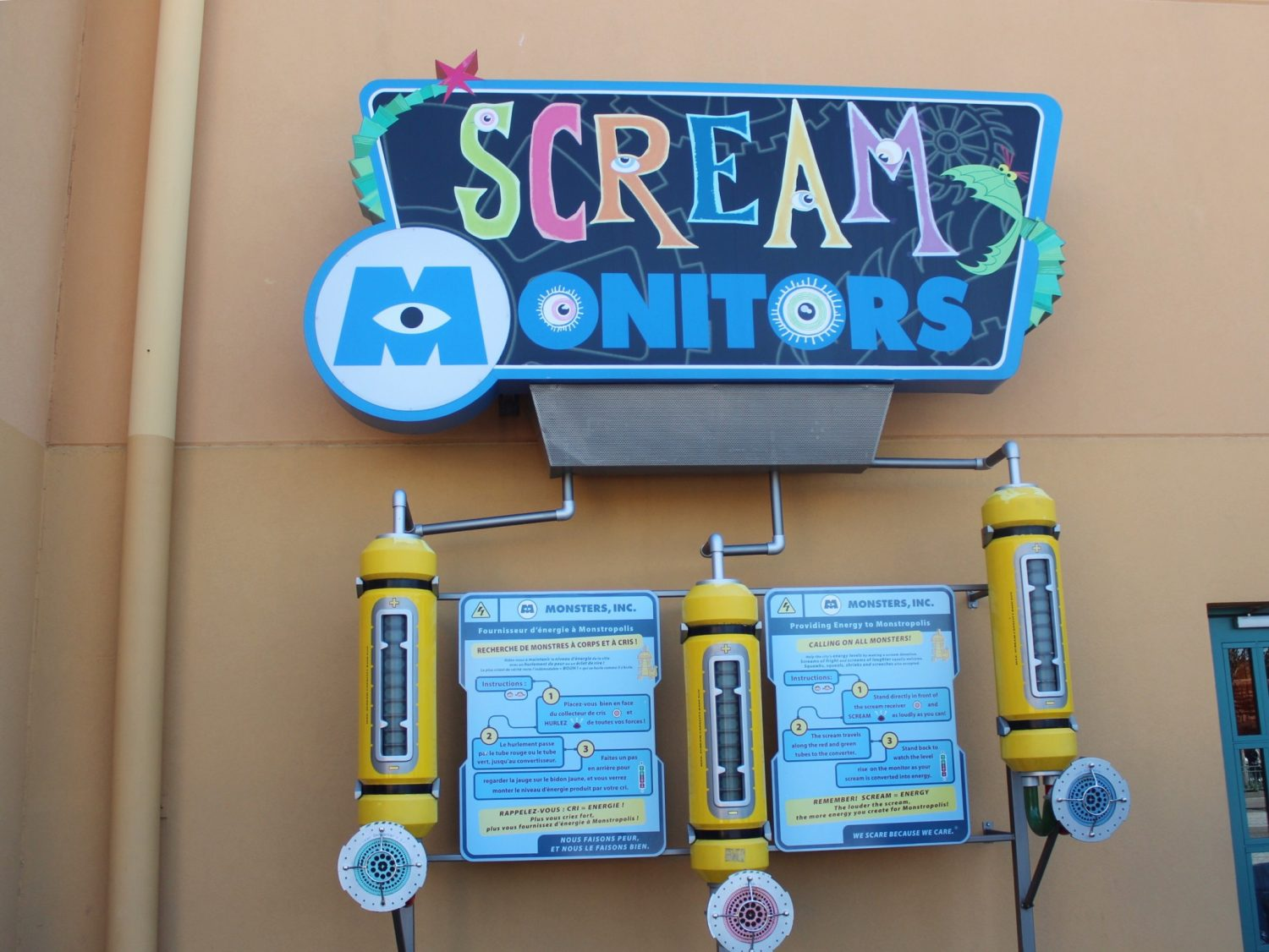 Walt Disney Studios Park Scream Monitors