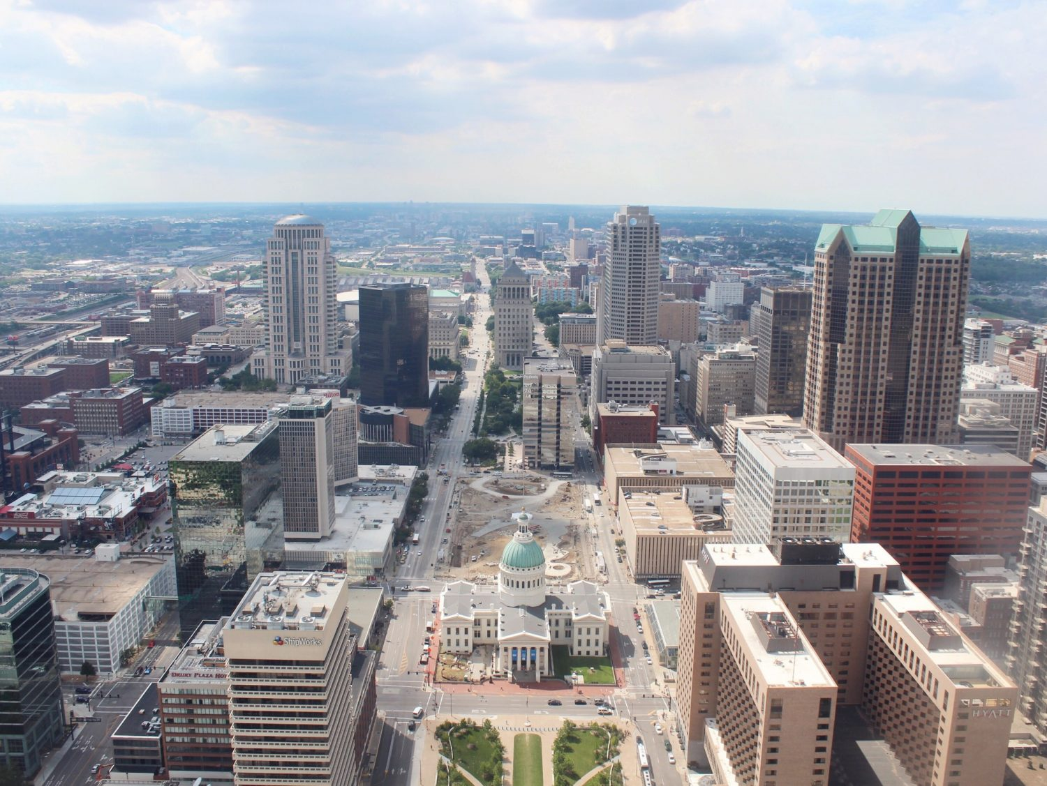 View from the St. Louis Arch