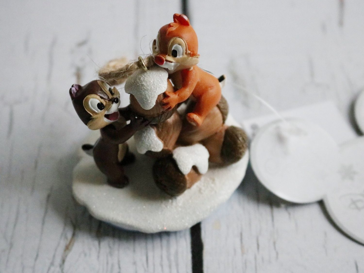 Disneyland Paris Chip 'n Dale Christmas Ornament