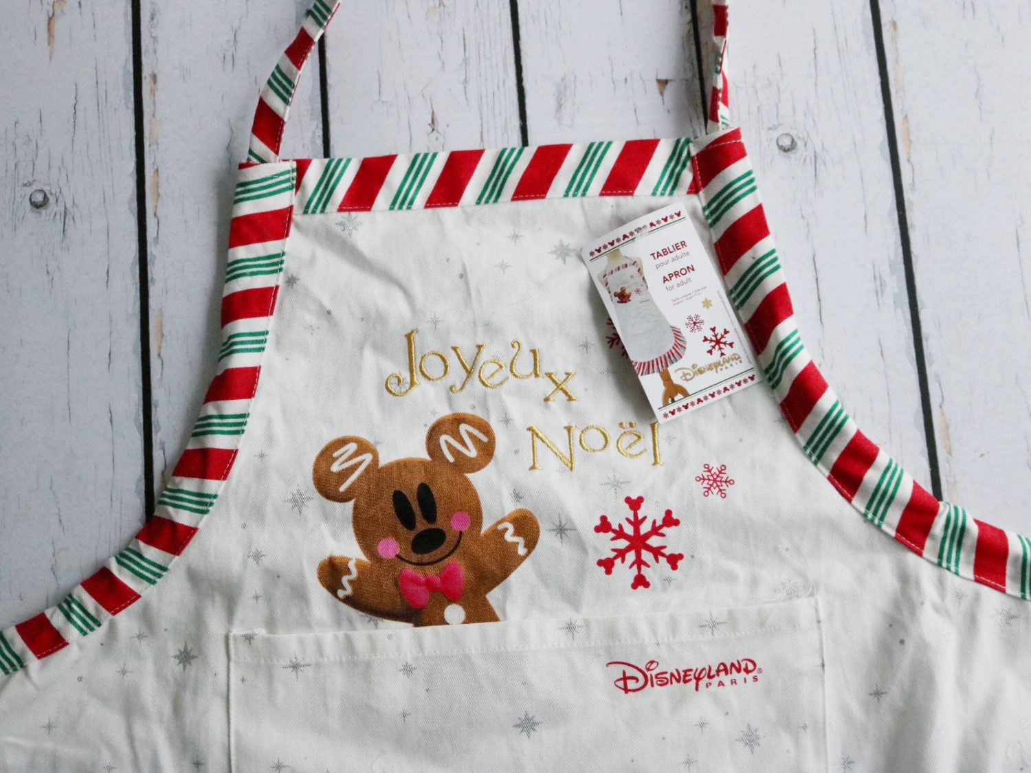 Disneyland Paris Christmas Gingerbread Apron