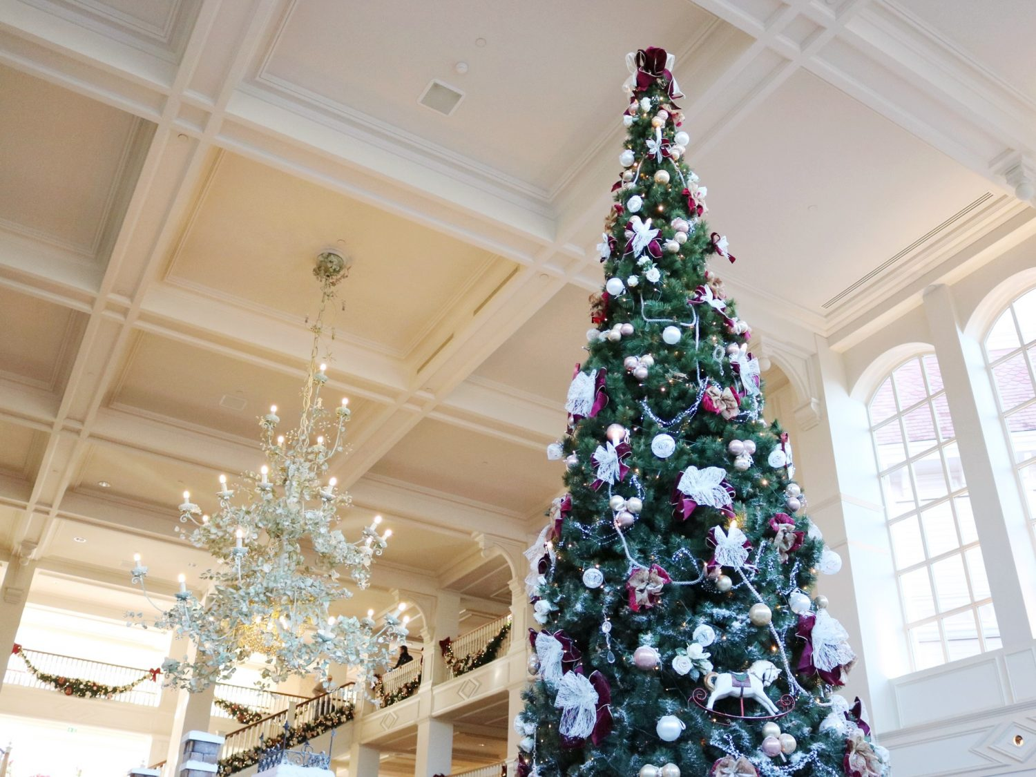 Disneyland Hotel during Christmas