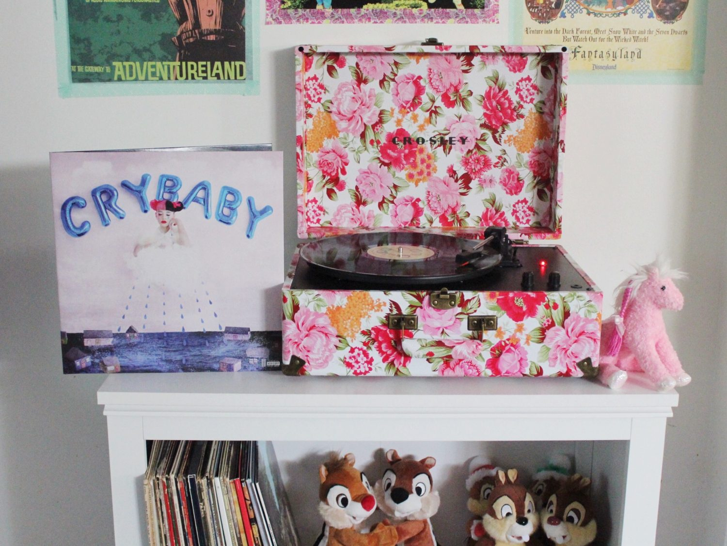 Floral Crosley Radio Keepsake Portable Turntable