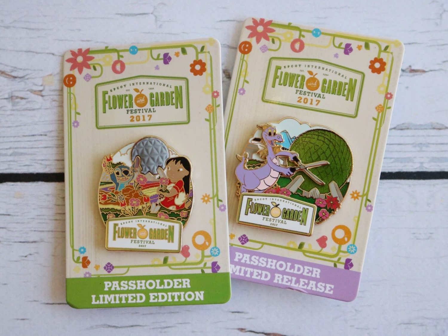 Epcot Flower and Garden Festival Passholder Pins